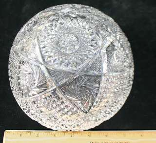 ABP Sparkling American Brilliant Period Cut Glass Bowl