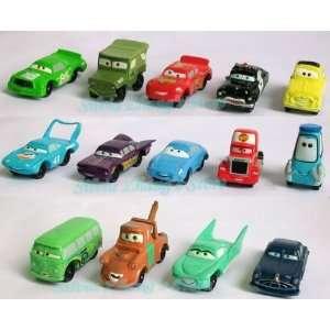 ems high quality pvc new 14 pcs pixar car figures full set