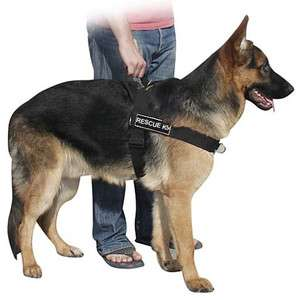 Dog No Pull Harness with Velcro Patches RESCUE K9