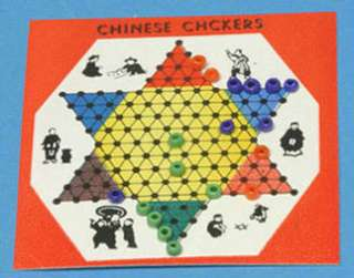 Dollhouse Miniature Chinese Checkers Toy all Set Up
