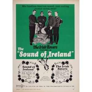 1967 Print Ad Irish Rovers Band Sound of Ireland Decca