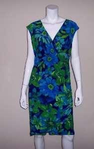 Women Jones New York Floral Print Ruched Sleeveless Dress Size 14 2868