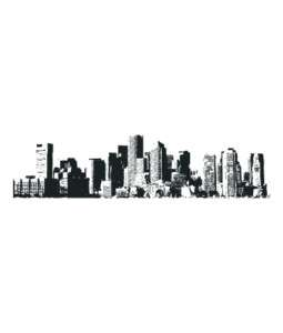 City Skyline New York Vinyl Wall sticker decal Quotes