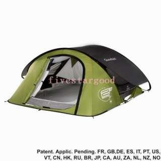 Quechua Tent Camping Pop Up 2 Seconds AIR III, 3 Man