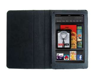 WAY PU Leather Folio Case Cover for  Kindle Fire 7 Tablet