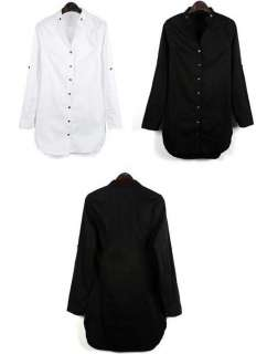 NEW ARRIVAL fashion womens slimming shirts/cottons long sleeve blouse