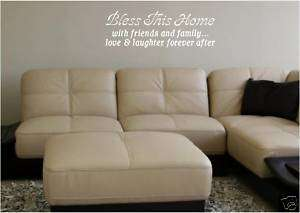 Bless This Home   Vinyl Wall Art Decals Word Lettering