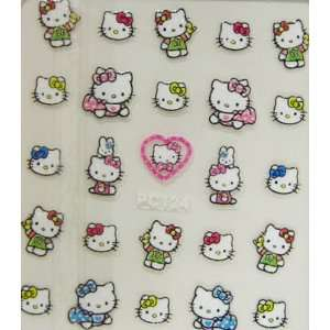 XH 2012 fashion design hello kitty nail art stickers