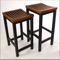 Slatted Seat Wood Bar/Counter Stool   Color choices