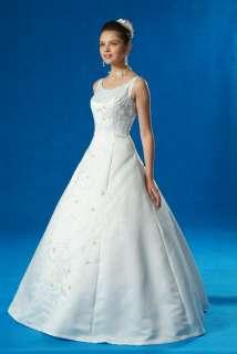 LINE BRIDAL GOWN WEDDING DRESS BLUE ACCENT Sz16 #3733