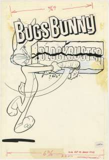 BUGS BUNNY BLOCKBUSTER ORIGINAL COVER ART 1980s CARROT
