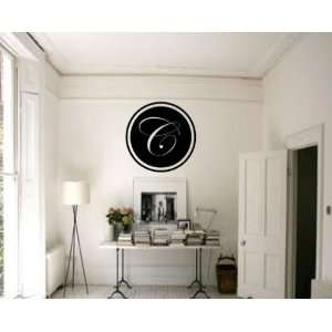 Letter C Monogram Letters Vinyl Wall Decal Sticker Mural Quotes Words