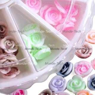 120 X 3D Rose Flowers Acrylic Nail Art Decoration Wheel