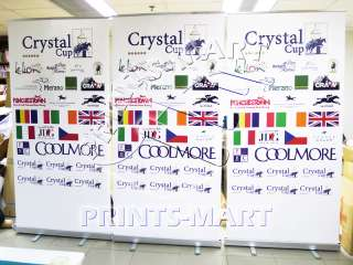 5X Trade Show Display Retractable Roll Up Banner Stands