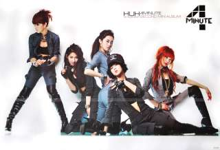 4Minutes 4 Minute Poster Korean UHU 2 nd Mini Album New
