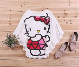 hellokitty T Shirt womens TOP short shirts Bats sleeve Cloth WKT