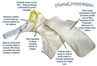 More information about MamaLittleHelper Organic Bamboo Baby Cloth