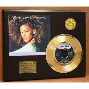 Whitney Houston Laser Etched 24kt Gold Record Greatest Love of All