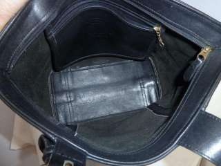 Authentic Vintage Coach Classic Black Leather Tote Bag 4133