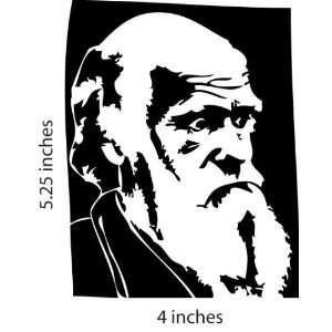 Charles Darwin Evolution Sticker Cut Vinyl Decal