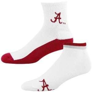 Alabama Crimson Tide White Crimson Two Pack Socks