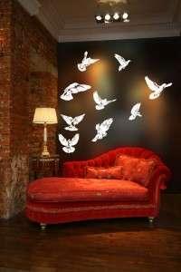 Doves Flying Huge Wall Vinyl Decal,peace,Mourning,Turtle,Rain,Carolina