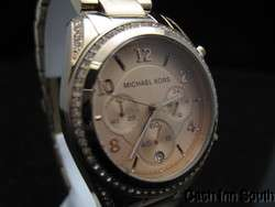 Michael Kors Mk5263 Rose gold Glitz Chronograph Watch MK 5263 Needs