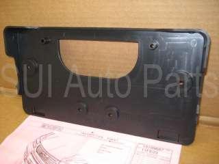 Front License Plate Bracket Holder w/ Screws (C42 5z)(Qty 1)