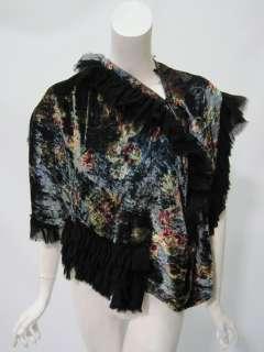 TAO Comme de Garcons womens velvet flower print shawl S $1905 New