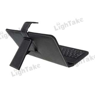 NEW QWERTY Keyboard and Protective Leather Case for 7 inch Tablet PC