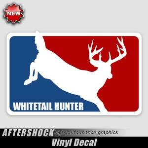 Whitetail Deer logo decal major league hunting sticker