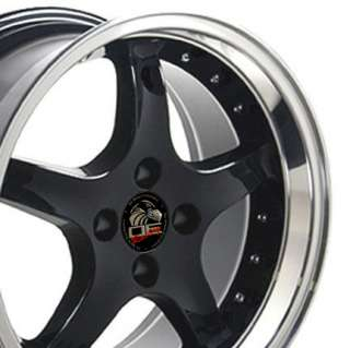 Black 4 Lug Staggered Cobra Wheels Rim Fits Mustang® 79   93