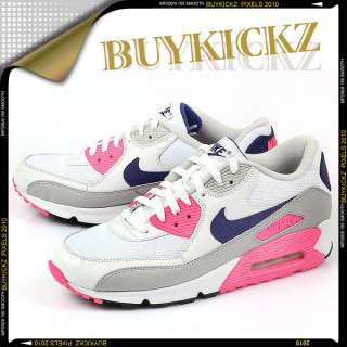 Nike Wmns Air Max 90 White/Asian Concord/Pink SZ6~12
