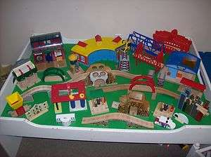 wooden railway railroad HUGE lot buildings track some retired
