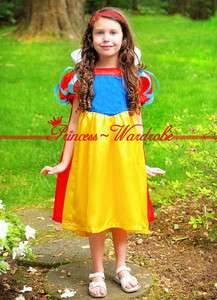 XMAS Christmas Gift Snow White Noble Princess Girl Party Kids Costume