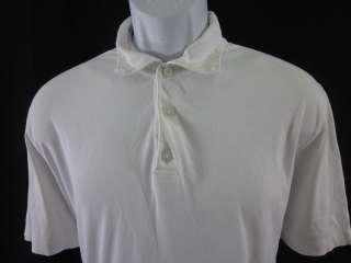 JOSEPH ABBOUD Mens White Cotton Short Sleeve Shirt SzL
