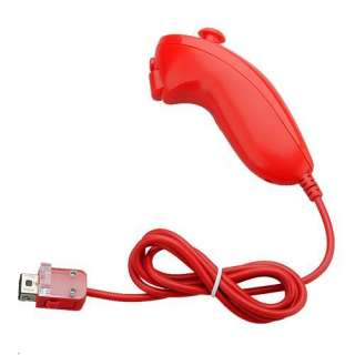 Brand New Nunchuck Game Controller for Nintendo Wii Generic RED