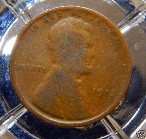 GOOD 1912 P LINCOLN WHEAT BACK CENT.#8184