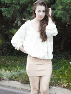 Women Lady Girls Pullover Shirt Blouse Top Rose Flower Mesh Jumper