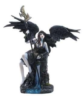 GOTHIC DARK ANGEL Goth Lady Warrior Statue Fantasy Art
