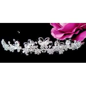 Crystal Butterfly Wedding Bridal Tiara Arts, Crafts & Sewing
