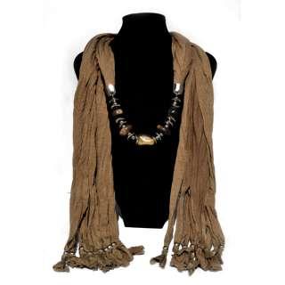 FREE fashion jewelry womens Coffee cotton scarves Wrap scarf pendant