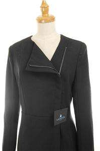 NWT AUTH Made in France Lanvin Paris Black Slim Zipper Wool Jacket