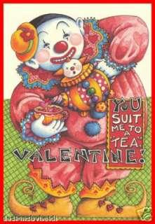 Mary Engelbreit Valentine Magnet Clown You Suit Me