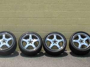 Mercedes Benz CL55 Rims Wheels Tires 19 inch Chrome