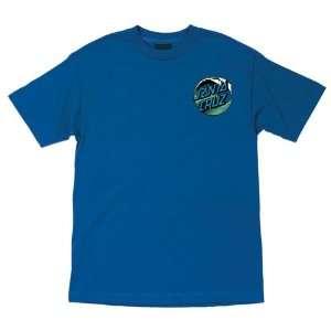 Santa Cruz T Shirts Wave Dot   Royal Blue