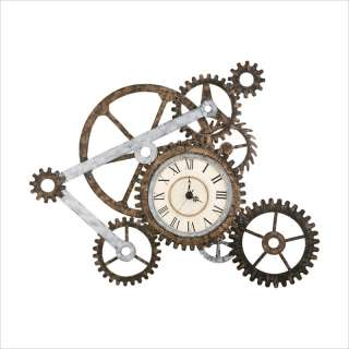 Southern Enterprises Gear Art w/ Wall Clock 037732019123