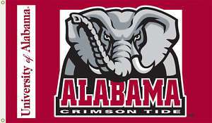 3x5 College Football Flag Alabama Crimson Tide Elephant