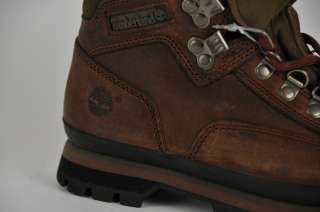 WOMEN TIMBERLAND 95310 EURO HIKERS BROWN LEATHER BOOTS US 6.5 NIB