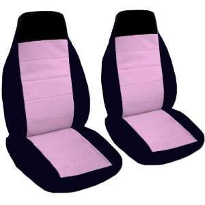 2 black and sweet pink seat covers for a 2007 Volkswagen